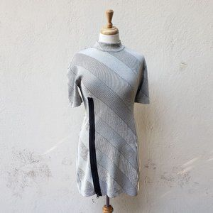 Assembly New York Asymmetrical Stripe Shift Dress